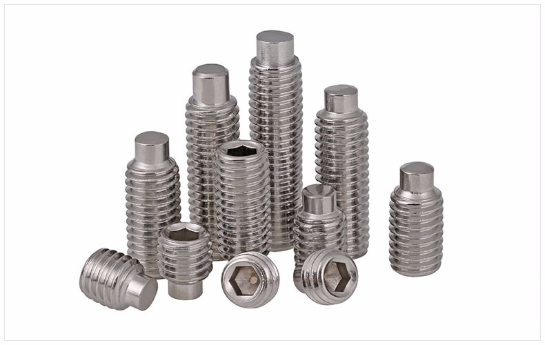 DIN 915 SS316 Fasteners Hex Socket Set Screw With Dog Point