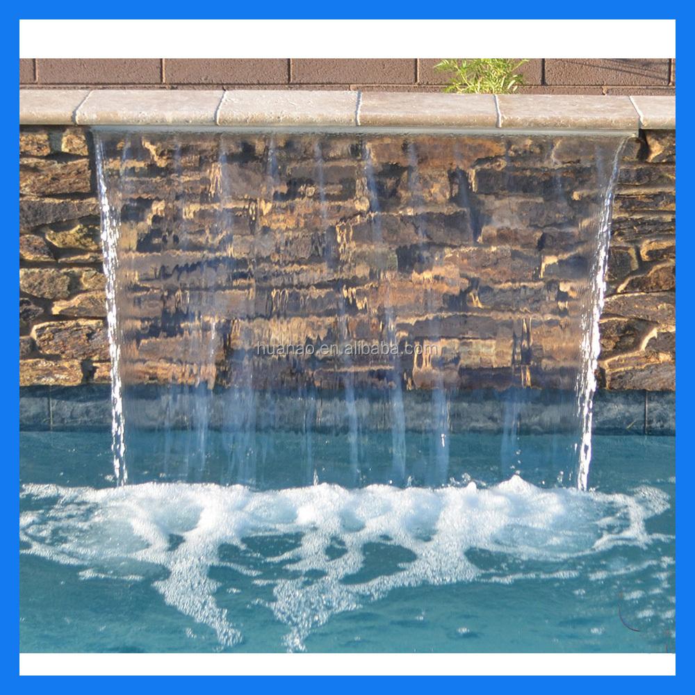 Cascadas de agua para piscinas cascadas artificiales de for Cascada artificial en pared
