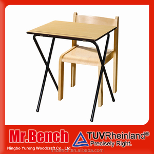 School supplies,wood foldable kids study table chair furniture design for school