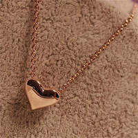 2016 New Trendy Hot Sale Classic Women Gold Heart Bib Link Chain Pendant Necklaces Cheap Women Necklace Jewelry