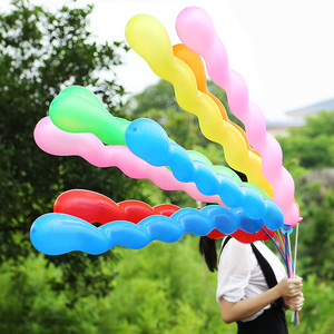different shaped latex helium screw balloon/baloon/ballon for kids toy