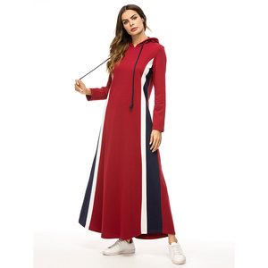 New model abaya in dubai fashion hoodies dress winter clothes for muslim woman