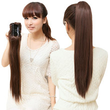 beautiful hot sale human hair drawstring ponytail