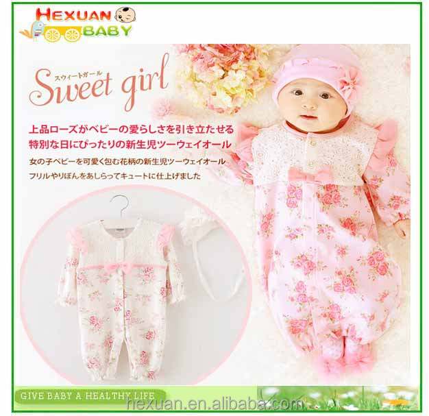 100 % Cotton Baby rompers Newborn Baby cotton clothes