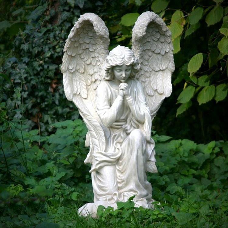 Stone Cherub Wearing Garland Statue For