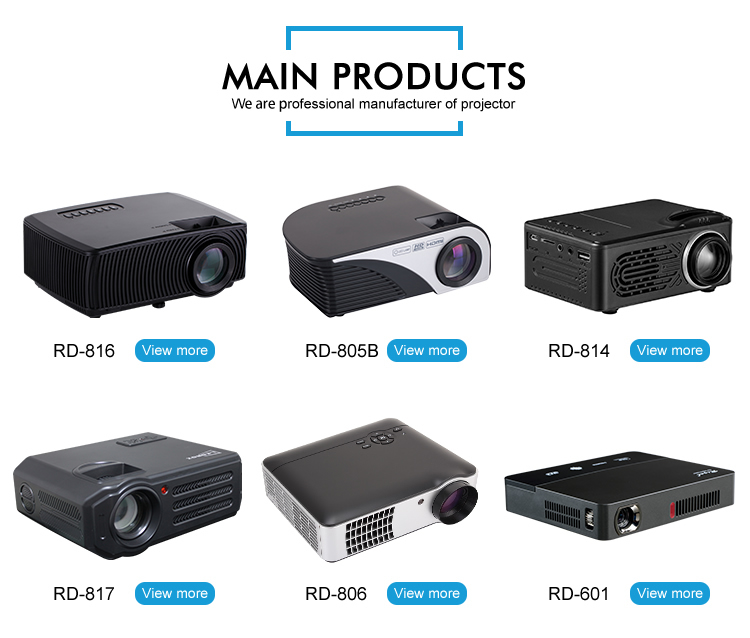 led home theater projector 1080P hd home new pattern projector