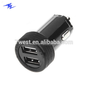 2014 Newest Mini Dual Port USB Car Charger for iPhone iPod Mobile Phone GPS