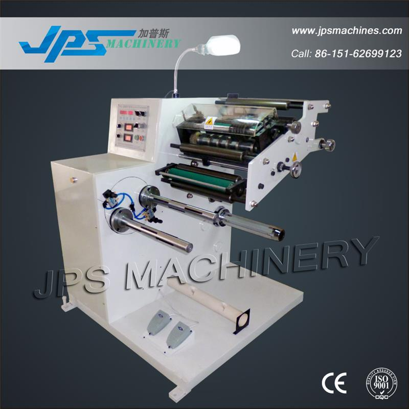 JPS-320FQ-TR Label Sticker Roll Slitter With Turret Rewinder