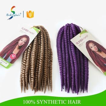 100 Handmade Seditty Rumba Twist Crochet Braid Synthetic Hair New Brand Fashion Style