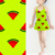 Tear-Resistant digital printed spandex watermelon pattern swimwear fabric for kids