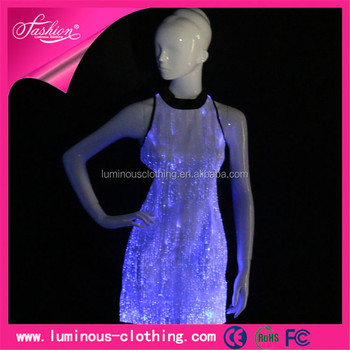 New Style Light Up Clothing Ball Gown Prom Dresses Night Club