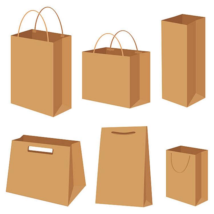 China Leverancier Hoge Kwaliteit 25Kg Karton Bruin Kraftpapier Gift Boodschappentas Met Handvat
