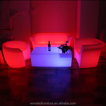 Event Furniture Lounge Led Sofa Chair Glowing Light Bar With Remote Control