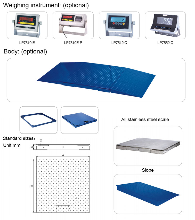 Digital Scale  Industry Floor Weighing Scale, Industrial Weighing Scale