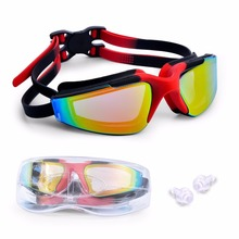 Swimming Goggles No Leaking Anti-Fog UV Protection with Ear Plugs and Free Protection Case, Swim Goggles