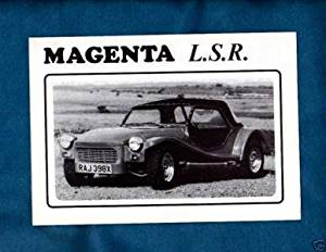 1982 MAGENTA L.S.R. KIT CAR SALES BROCHURE - ENGLISH - VINTAGE FACTORY ORIGINAL - UK !!