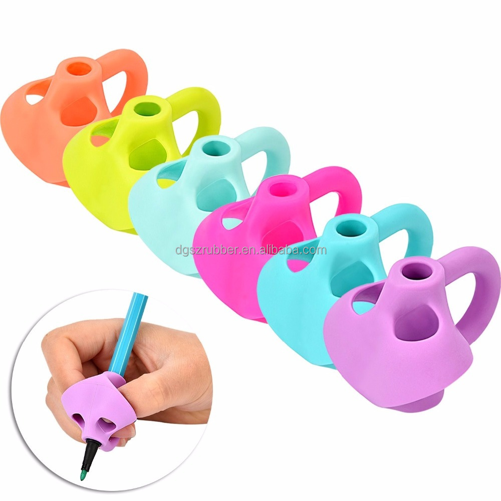 100% Silicone Universal Pencil Grip for Both Left and Right Handed Writing Aid Grip Trainer Posture Correction Finger
