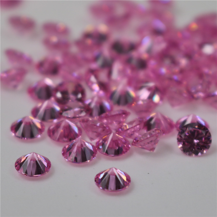 Top quality Incomparable Beautiful 3mm round rose zircon