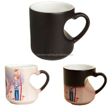 wholesale price ceramic sublimation temperature control heat press sensitive color changing magic coffee mug cup