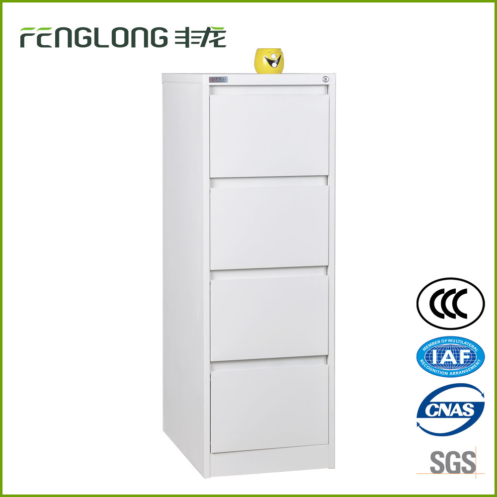 Cheap wholesale office furniture vertical press-type handle design 4 drawer hanging file cabinet