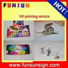 mobile phone case/glass/usb card/pvc board uv printing service