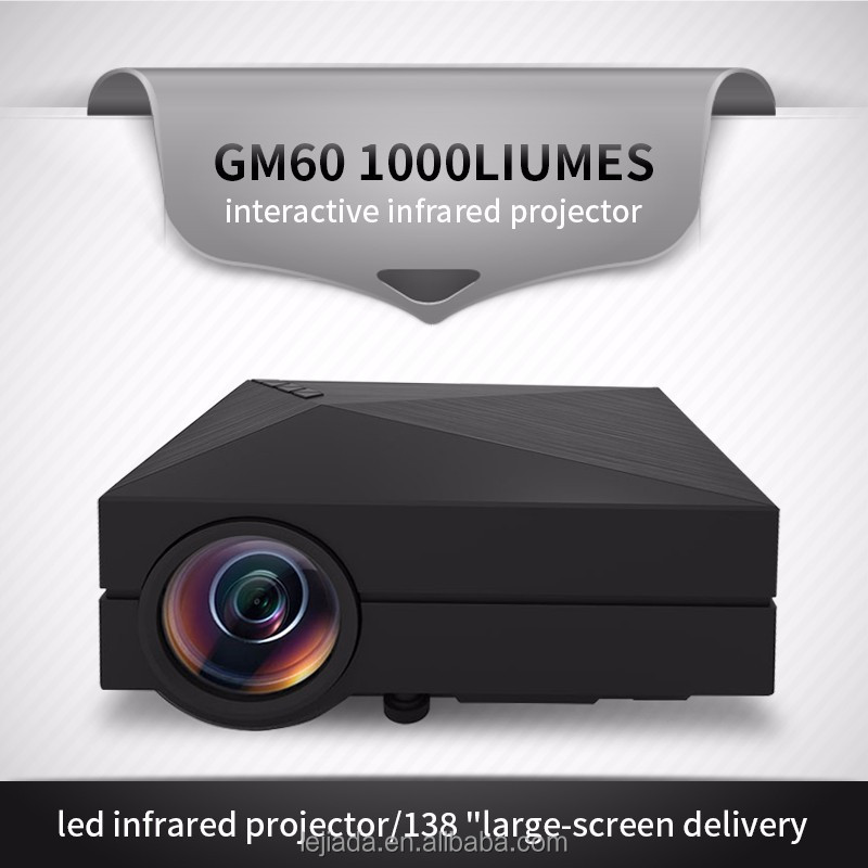 Household GM60 1000Liumes interactive led infrared projector