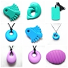 2016 Teething Pendant/Food Grade Chewable Silicone Jewelry Pendant Necklace For Kids teething baby