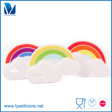 FDA Approved Silicone Baby Teether Rainbow Chewable Mom Nursing Toddler Infant Teething Toys
