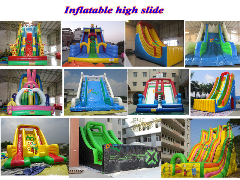 giant inflatable water park large water slide huge inflatable slide slide the city
