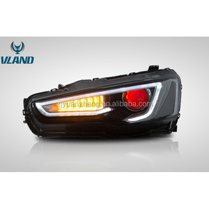 FOr car accessories for lance ex 2010-up headlight with bi-xenon projector lens plus taillight new style