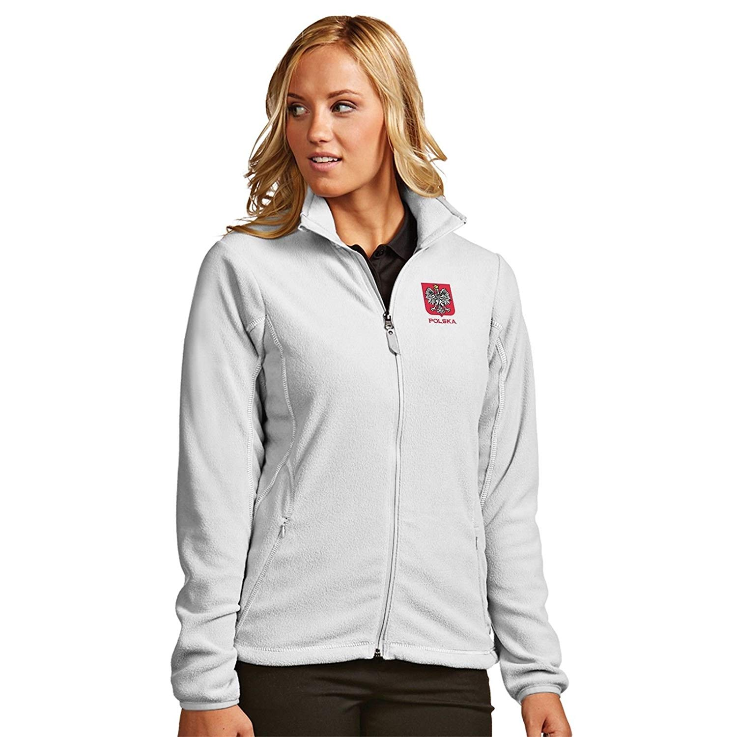 dd1566a38 Sports Outlet Express Womens Polish Polska Antigua Ice Breaker Outerwear  Jacket Eagle Embroidered