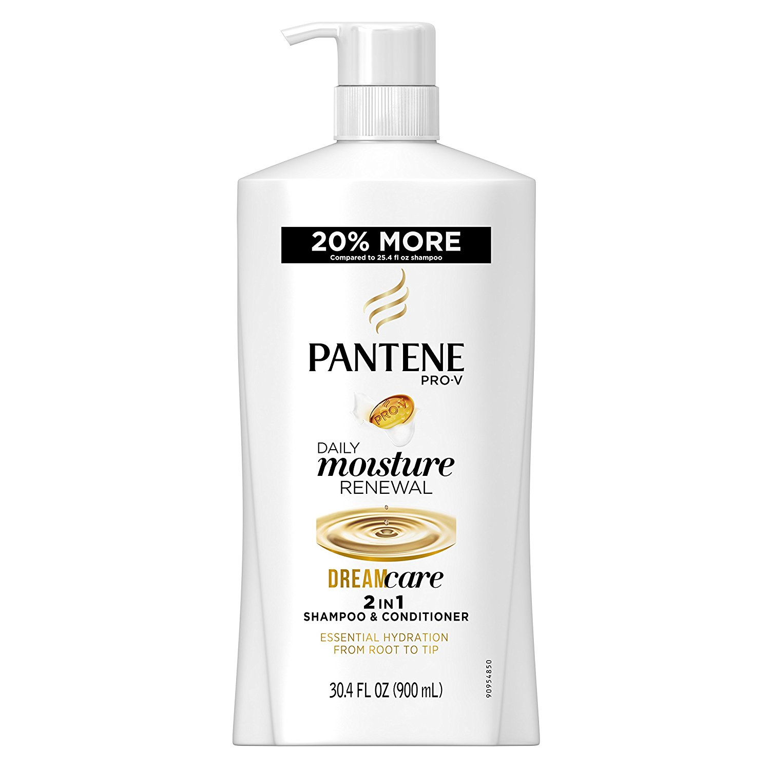 Pantene Pro-V Daily Moisture Renewal 2 In 1 Shampoo and Conditioner, 30.4 Fluid Ounce (Pack of 4) (Packaging May Vary)