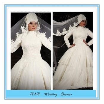 5836a156982 2015 suzhou robe de mariée Nouvelle Arabes blancs à manches longues en  Dentelle Gelinlik Turc hijab