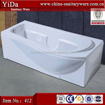 Simple Square Bathtub With Two Sides Skirt,Movable Bathtub White ...