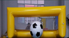 yellow plastic target fodling inflatable soccer ball goal