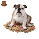 Custom made wholesales decorative resin bulldog figurine