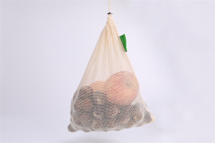 Eco friendly COTON fruit bag mesh fruit net bag