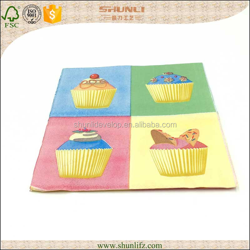 Logo printed designs paper napkin/tissue/serviettes for party