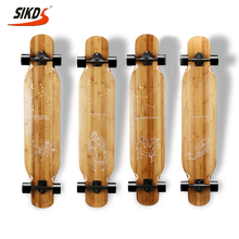 wholesale bamboo longboard deck OEM logo new design bamboo skateboard supplier