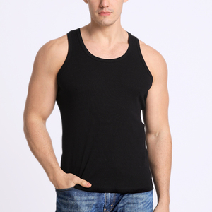 Professional OEM manufacturer made in China mens stringer 3d cutting 100%cotton tank top sport vest custom top tank