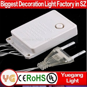 CE ROHS approved outdoor waterproof IP44-65 8 function porgrammable christmas light chain controller