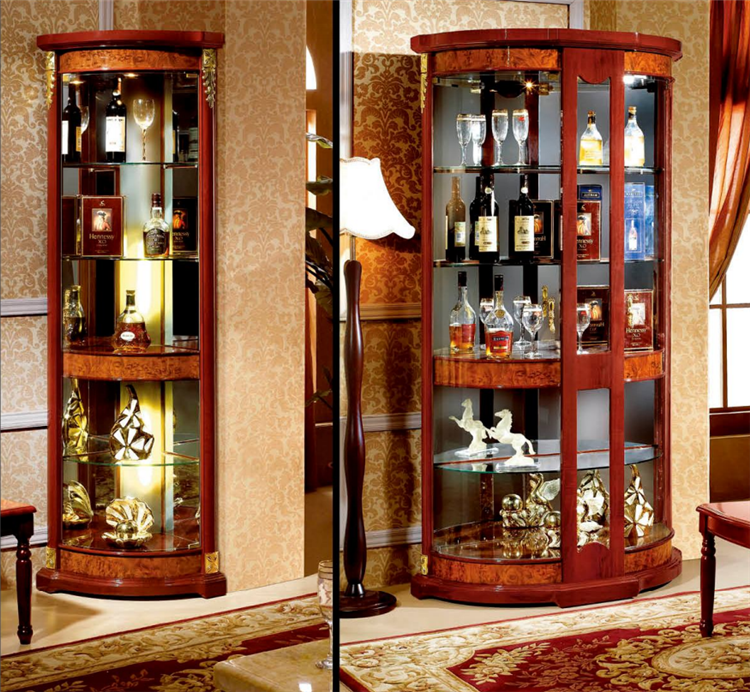 Home furniture wall unit design mini bar cabinet buy for Bar showcase for home