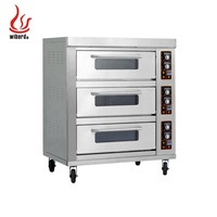 Wiberda Easy Reach Smart bread cake 3 deck 6 9 tray bakery professional electric kings union pizza oven