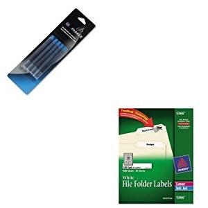 KITAVE5366PAR3016031PP - Value Kit - Parker Refill Cartridge for Washable Ink Fountain Pens (PAR3016031PP) and Avery Permanent Self-Adhesive Laser/Inkjet File Folder Labels (AVE5366)