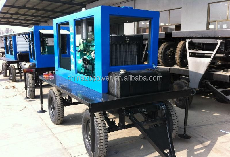 Soundless 50KVA trolley generator price powered by 4BTA3.9-G2 with CE/ISO aprroval