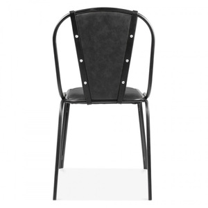 Admirable Black Leather Upholstered Studded Dining Chair Gmtry Best Dining Table And Chair Ideas Images Gmtryco
