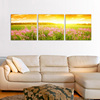 Beautiful scenery flower landscape no frame stretched canvas oil painting for home wall decor paintings