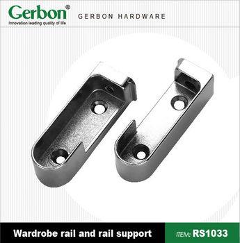 wardrobe rail bracket buy rail mounting brackets pipe. Black Bedroom Furniture Sets. Home Design Ideas
