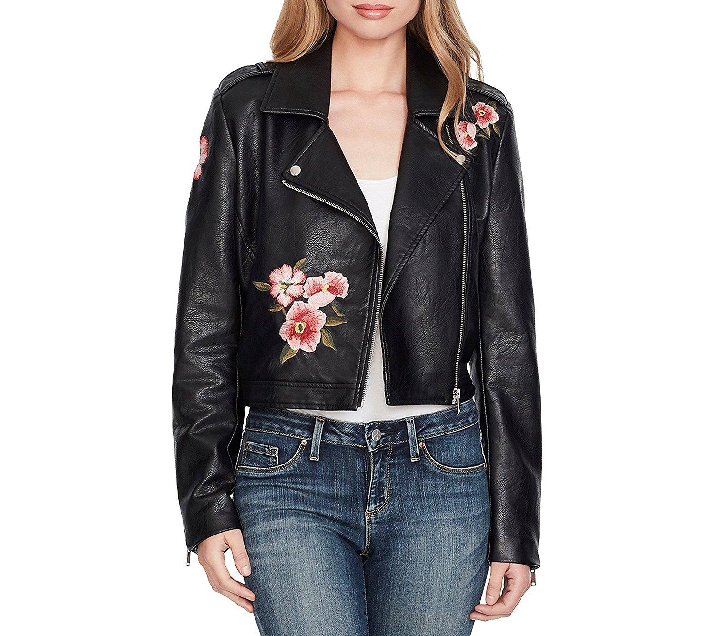 Venxic Men Stand Collar Fleece Lining Zip Up Winter Black Leather Jacket