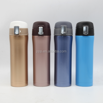 500ml double wall stainless steel cutomized logo insulated water bottle with flip top lid
